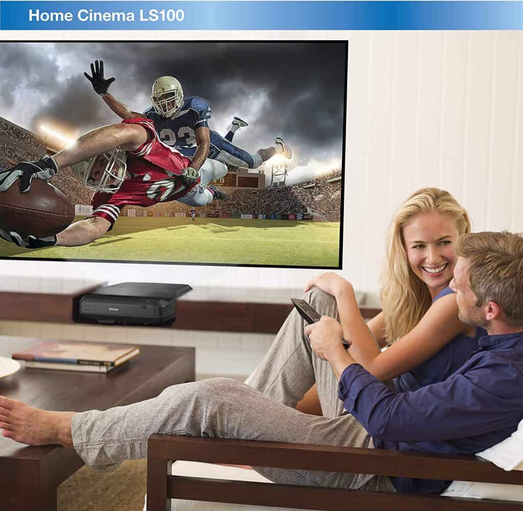 Epson Home Cinema LS100 3LCD Ultra Short-throw projector for daylight viewing