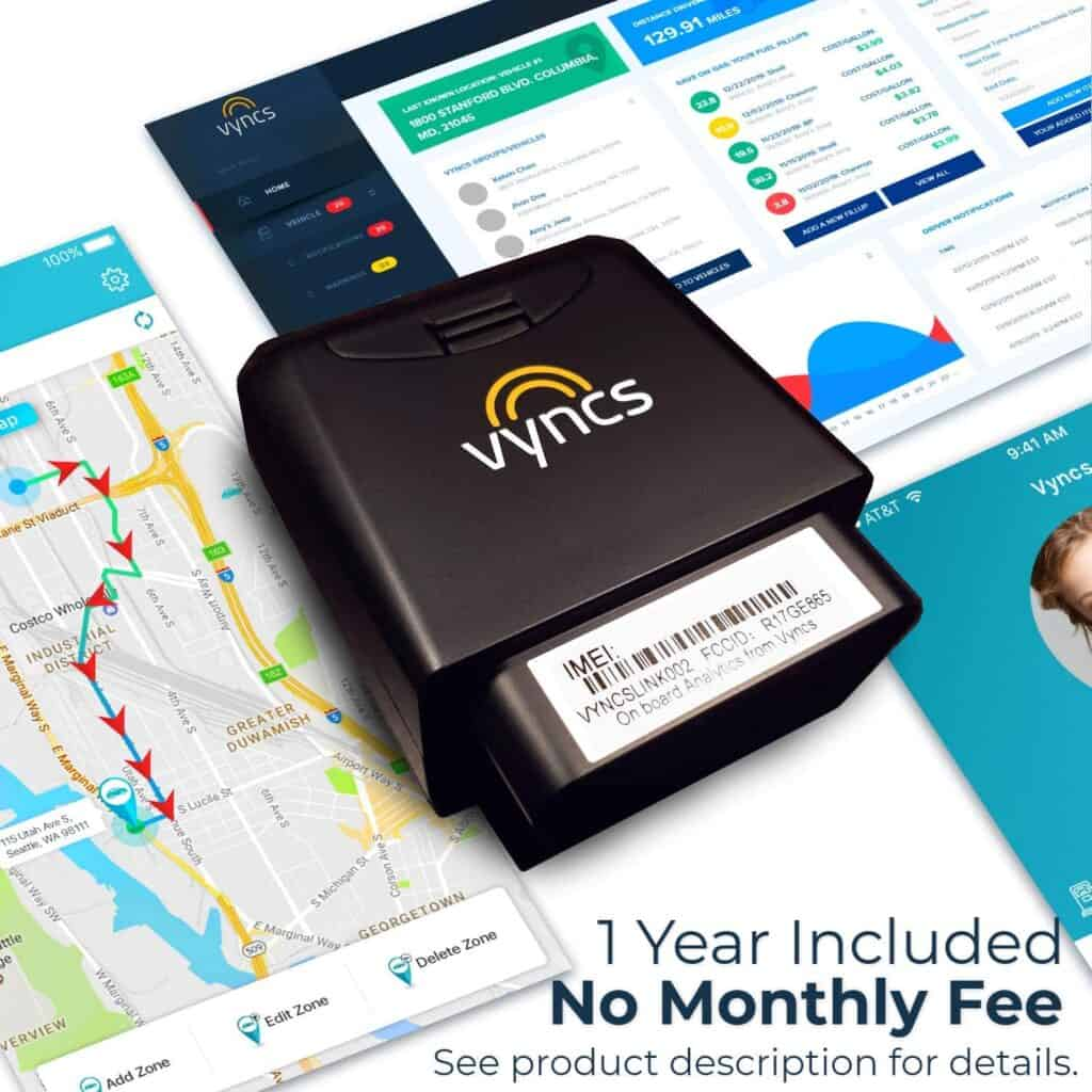 GPS Tracker for seniors Vyncs No Monthly Fee Real Time Tracker