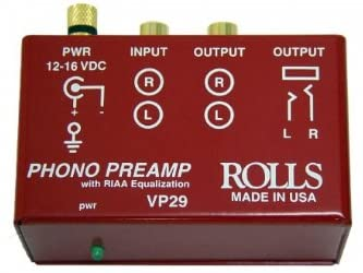 rolls Phono Preamp, Red