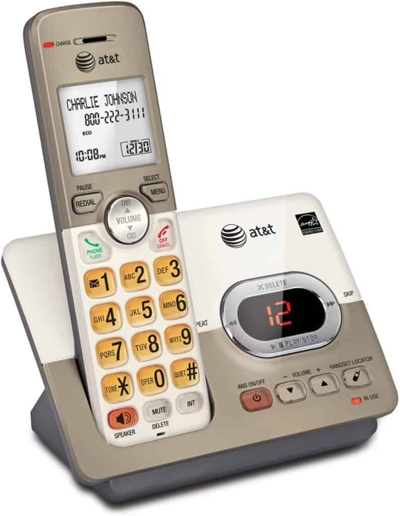 AT&T EL52113 Single Handset Expandable Cordless Phone with Answering System