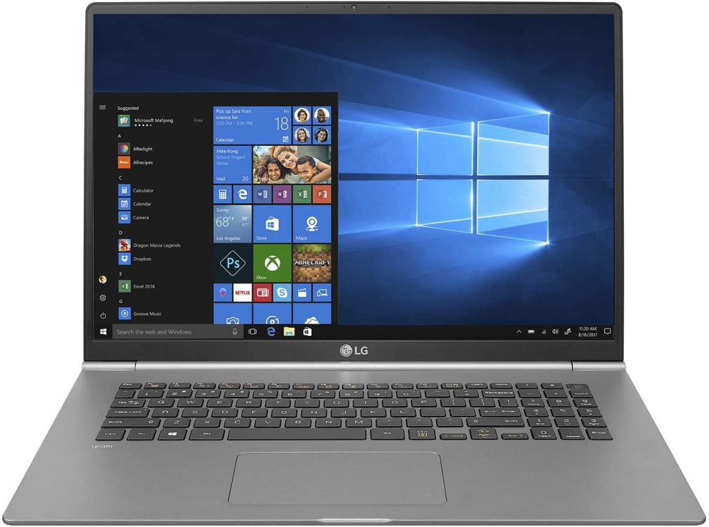 LG gram Thin and Light Laptop for day trading