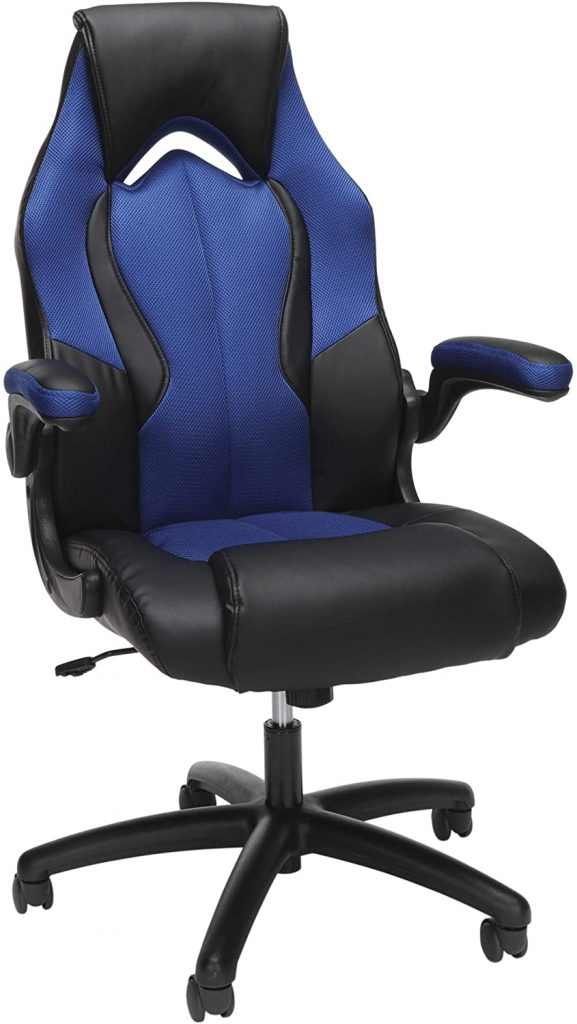 OFM ESS Collection High-Back Racing Style Bonded Leather Gaming Chair